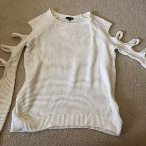 Express cut out sleeves sweater